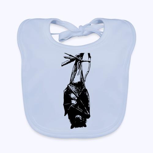 HangingBat schwarz - Baby Bio-Lätzchen