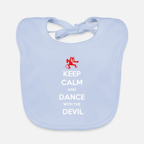 Keep Calm and Dance With the Devil - Bio-slabbetje voor baby's
