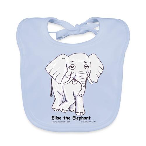 Elise the Elephant Named - Organic Baby Bibs