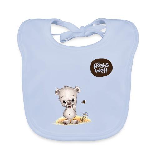 Noah der kleine Bär - mit Logo - Baby Bio-Lätzchen