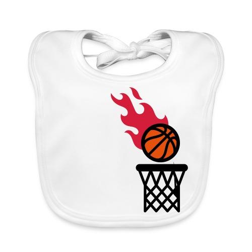 fire basketball - Baby Organic Bib