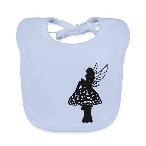 Silver fairy BLACK - Baby Organic Bib