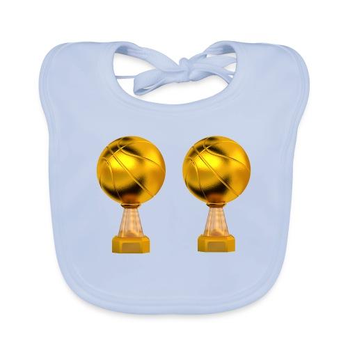 Basketball Golden Trophy - Bavoir bio Bébé