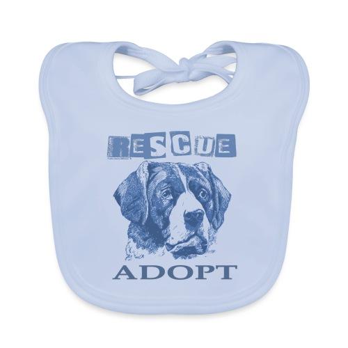 Rescue adopt - Babero de algodón orgánico para bebés