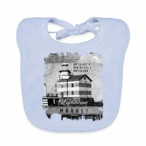 Märket majakkatuotteet, Finland Lighthouse, Harmaa - Vauvan ruokalappu
