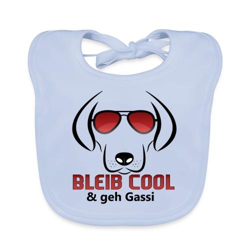Bleib Cool und geh Gassi Hunde Geschenk - Baby Bio-Lätzchen