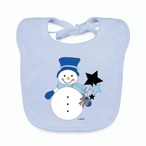 Snowtime-Blue - Baby Bio-Lätzchen