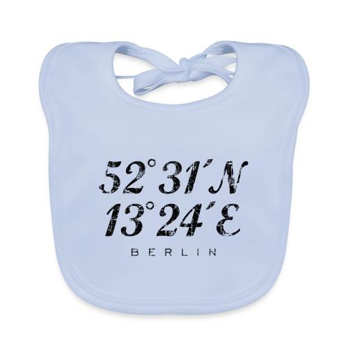 Berliner Koordinaten Berlin (Vintage/Schwarz) - Baby Bio-Lätzchen