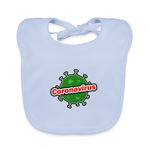 Coronavirus - Babero de algodón orgánico para bebés