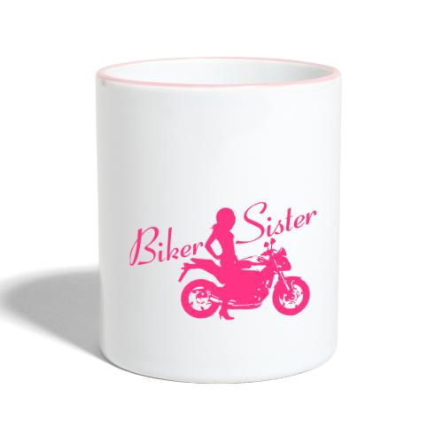 Biker Sister - Naked bike - Kaksivärinen muki