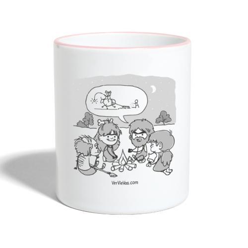 VerVieVas Cavemen Tasse - Tasse zweifarbig
