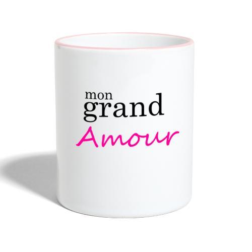 Mon grand amour - Mug contrasté