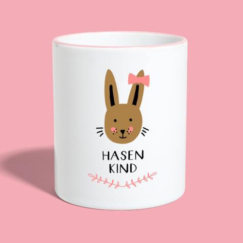 Hasenkind Maedchen - Tasse zweifarbig