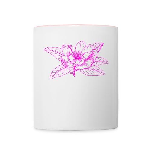 Camisetas y accesorios de flor color rosada - Taza en dos colores