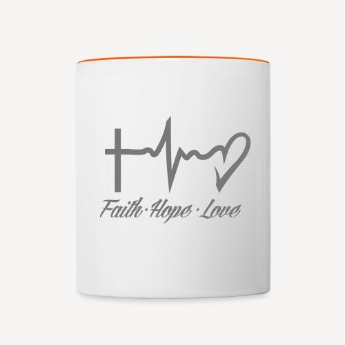 FAITH HOPE LOVE - Contrasting Mug
