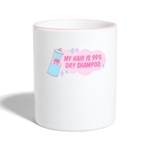 My Hair Is 99 Dry Shampoo   Retro Pinup Girl - Contrasting Mug