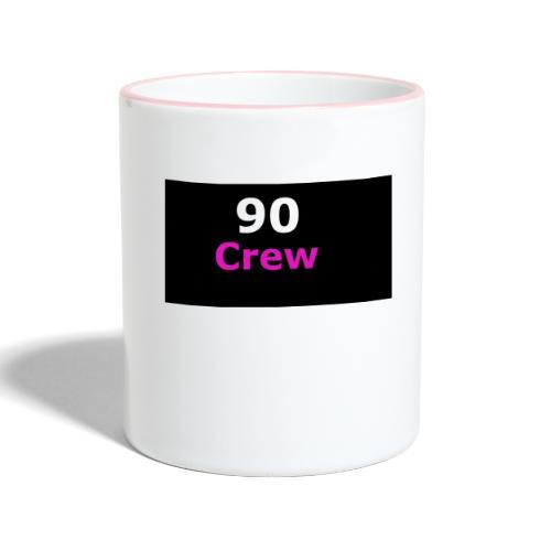 90 Crew Weiss Pink - Tasse zweifarbig
