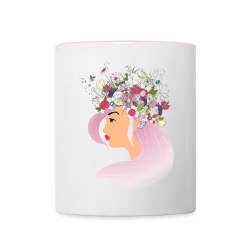 Pink Spring girl - Mug contrasté