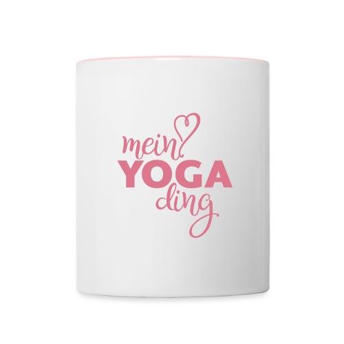 Mein Yogading pink - Tasse zweifarbig