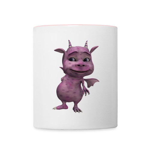 gnome dragon - Contrasting Mug