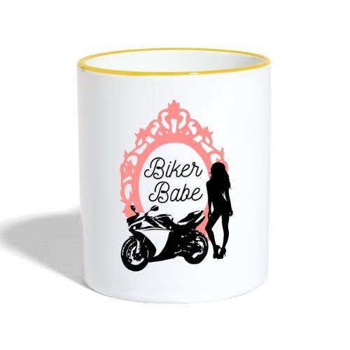 Biker Babe – Racing bike - Kaksivärinen muki