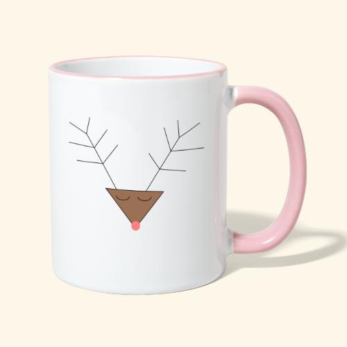 Pink nose reindeer - Mug contrasté