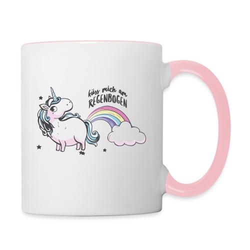 Vorschau: küss mich am regenbogen - Tasse zweifarbig