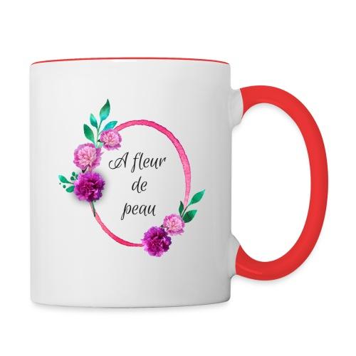 a fleur de peau - Mug contrasté