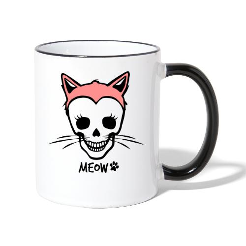 Katzenliebe für immer - Tasse zweifarbig
