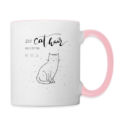 20% Cat Hair - Tasse zweifarbig