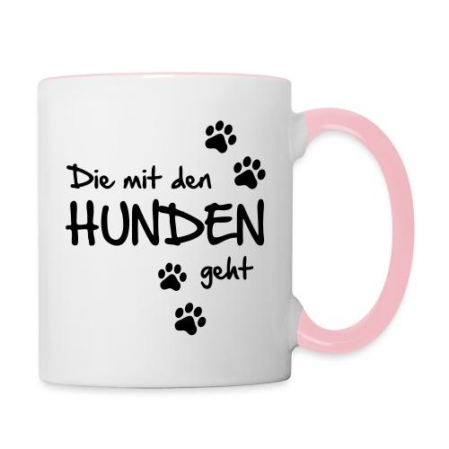 Vorschau: Die mit den Hunden geht - Tasse zweifarbig