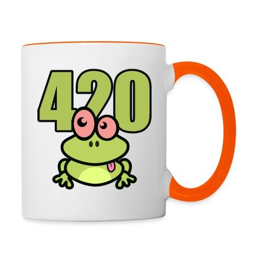 420 Frosch - Tasse zweifarbig