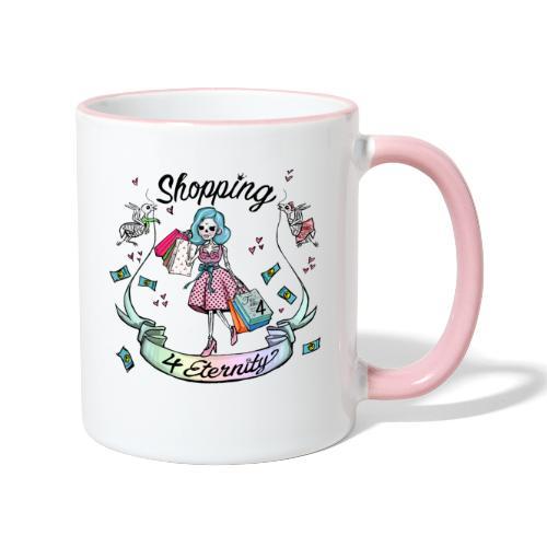 Shopping für immer und ewig - Tasse zweifarbig
