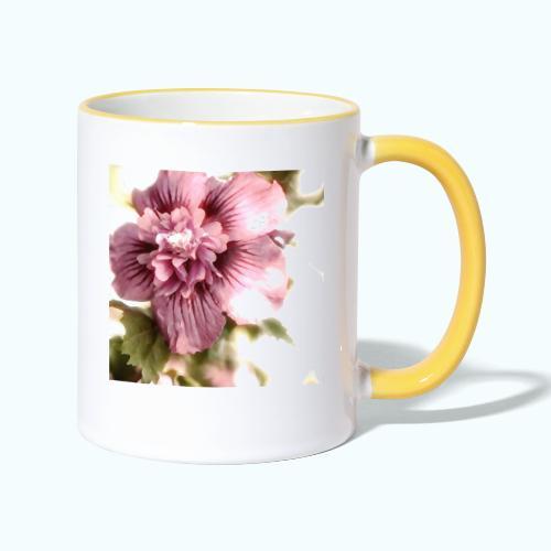 Pink flower watercolor minimalism - Contrasting Mug
