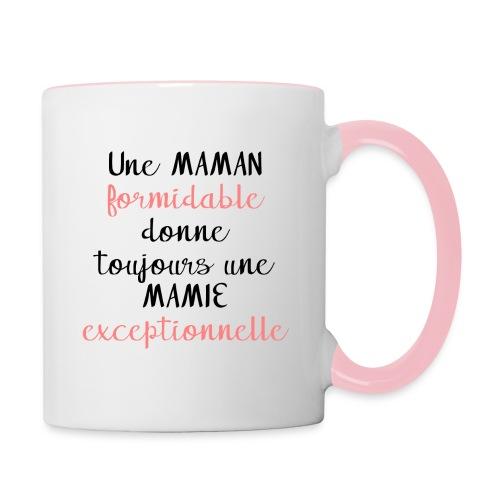 Une maman formidable donne toujours une mamie - Mug contrasté