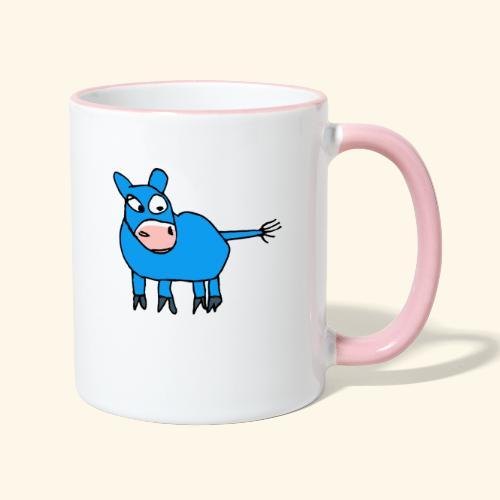 willi das kleine muli - Tasse zweifarbig