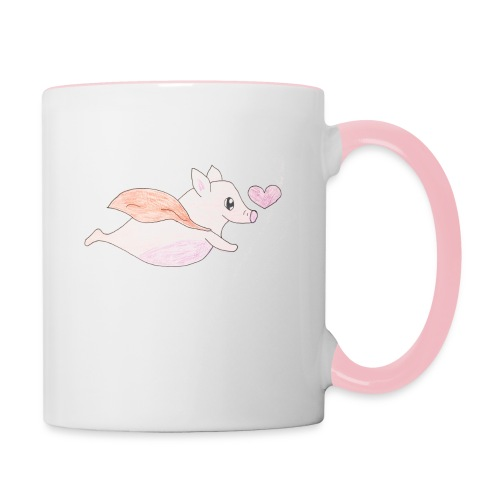 Kids for Kids: Flying Pigs - Tasse zweifarbig