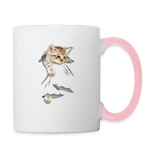 Vorschau: cat tear - Tasse zweifarbig