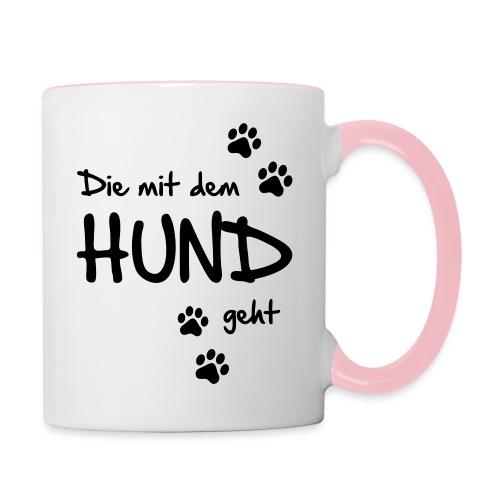 Vorschau: Die mit dem Hund geht - Tasse zweifarbig