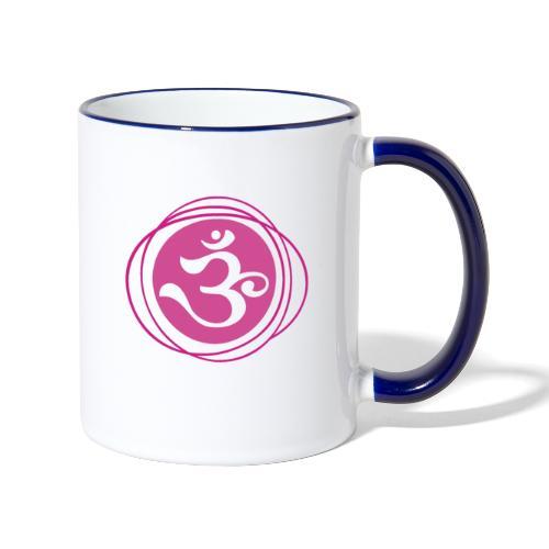 Kronenchakra Sahasrara Kundalini Yoga Symbol - Tasse zweifarbig