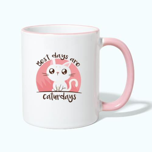 Saturdays - NO - Caturdays - Contrasting Mug