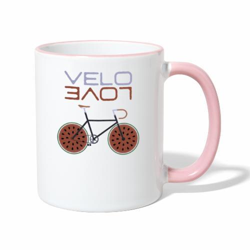Melonen Bike Shirt Velo Love Shirt Rennrad Shirt - Tasse zweifarbig