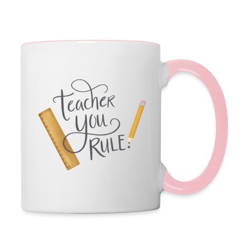 Teacher you rule - Tvåfärgad mugg
