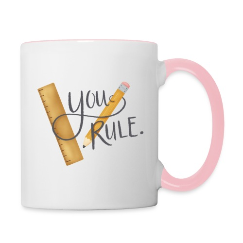 You rule! - Tvåfärgad mugg