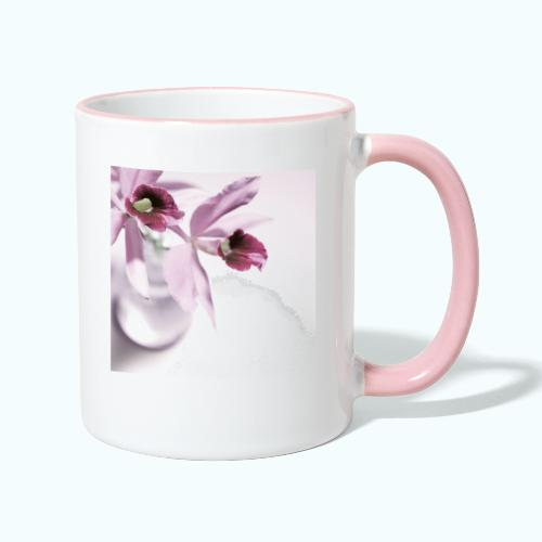 Orchid Vase Watercolor Minimalist - Contrasting Mug