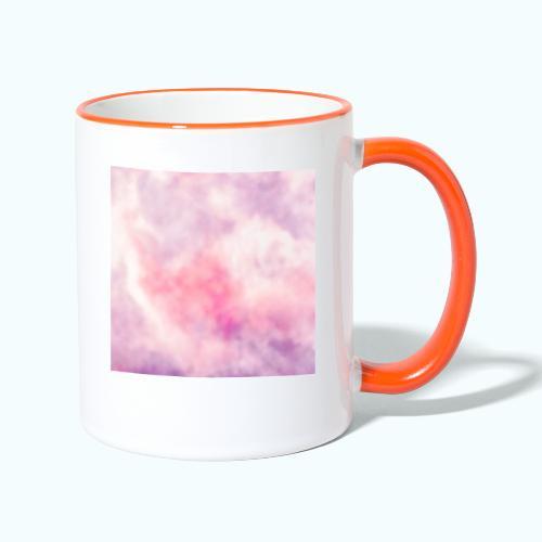 Pink clouds watercolor sky - Contrasting Mug