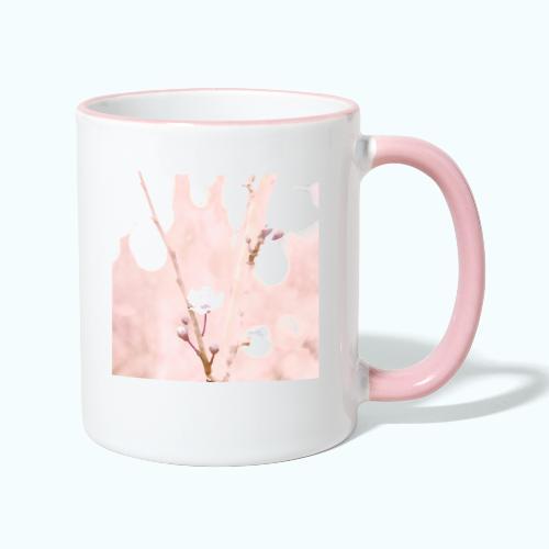 Cherry tree watercolor minimalism - Contrasting Mug