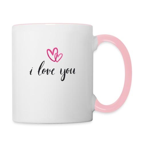 I love you - Mug contrasté