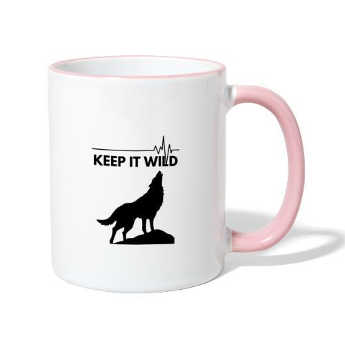 Keep it wild - Tasse zweifarbig