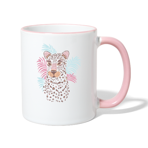 80s Pastel Color Cat - Contrasting Mug
